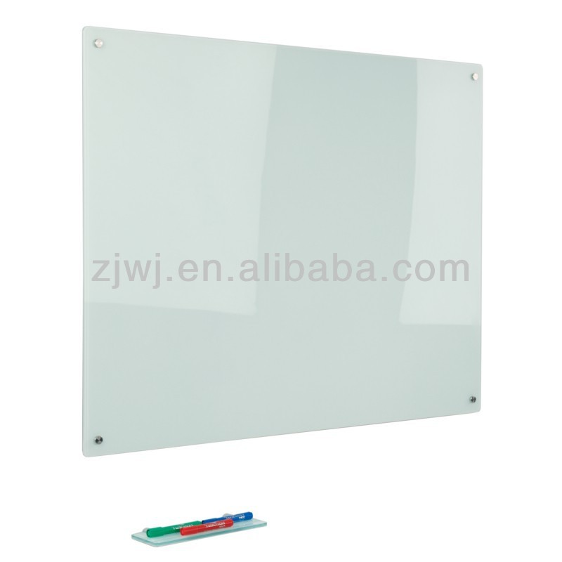 120x150cm Magnetic tempered Glass white board with magnets