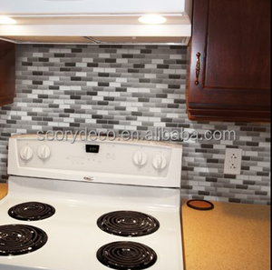 No cementing No grouting peel n stick wall tile self adhesive backsplash for tiny apartment decor