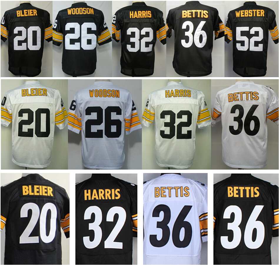 0459d499645 20 Rocky Bleier 26 Rod Woodson 32 Franco Harris 36 Jerome Bettis 52 Mike  Webster Throwback