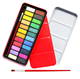Professional 24 Colors Cake Paint Set Red Metal Box Solid Watercolor Paint With Brush
