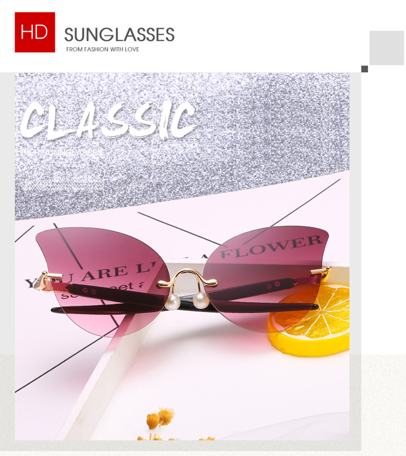 2019 Fashionable Pearl Nose Pads Cat 3 UV400 Designer Women Sunglasses