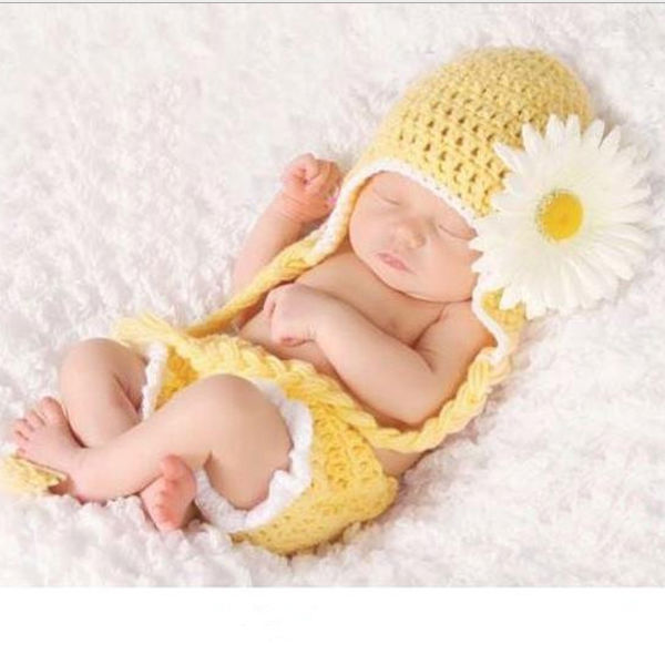 M61919A knitted sweater handmade cute flower infant clothes