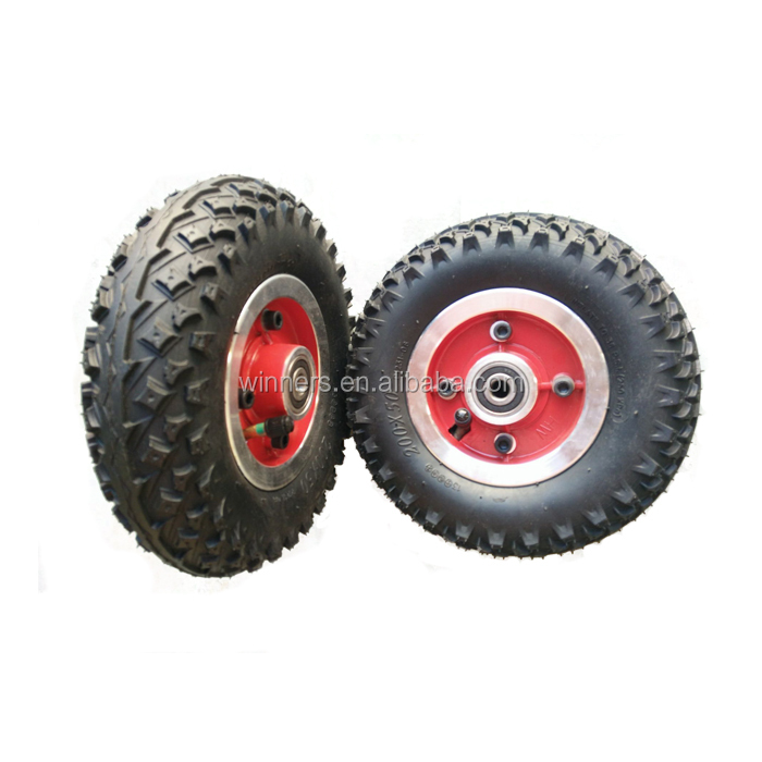 "200x50 8"" Electric mountainboard Aluminium Alloy Pneumatic Wheel with Pulley"