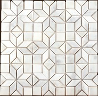 hot sale & high quality 15x15 chip size cheap price marble mosaic decorative tiles of China National Standard