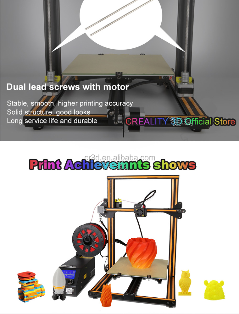 Creality Cr-10s Upgraded Cr-10 Dual Z-axis Lead Screw Filament Sensor Power  Failure Resume 300*300*400mm3d Machine3d Printer - Buy Cr-10,Creality 3d