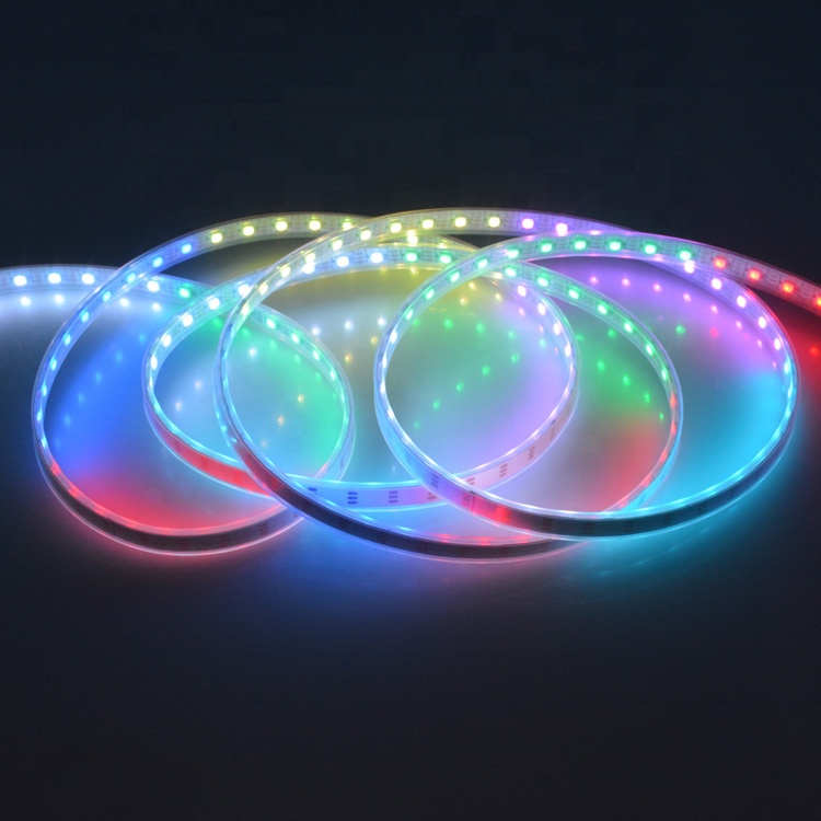Individually addressable 5m waterproof ip65 ip67 5050 <strong>rgb</strong> 60 120 144 led/m 5v ws2811 ws2812 ws2812b led strip