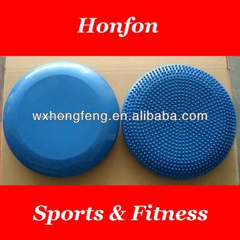 pvc inflatable massage balance seat air cushion, fitness balance disc exercises