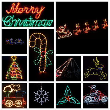 outdoor christmas rope light silhouettes window christmas decoration