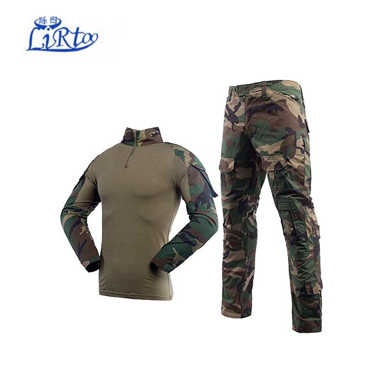 Custom Lange Mouwen Army Combat Solider Uniform Mannen Militaire Uniform