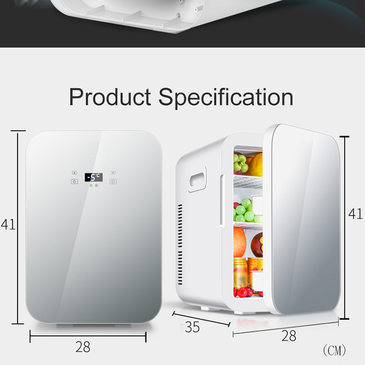 20L Small Cold Soft Drink Beer Refrigerator Glass Door Digital Display Fridge