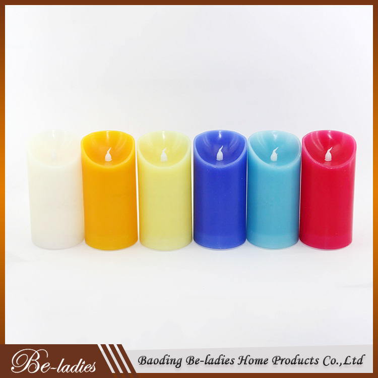 Wholesale flameless candles pillar personalized led candles with swing wick