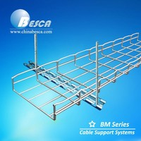 Galvanized 300*100mm Wire Basket Cable Tray