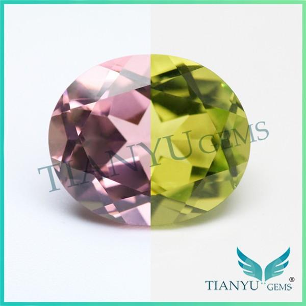 6*8 Oval Cut #205 Color Change Lab Created Gemstones Nanosital ...