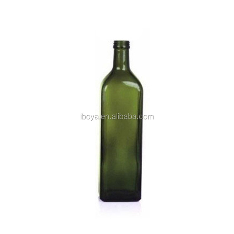1000ml Dark Green Marasca Olive Oil Bottle