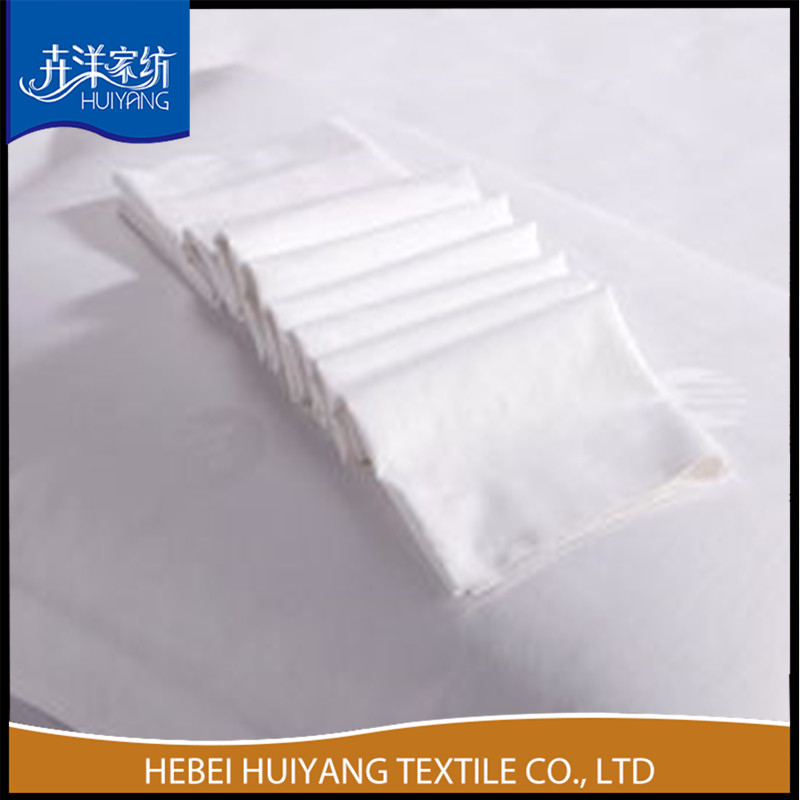 poly cotton bleached white fabric for make workwear factory direct price