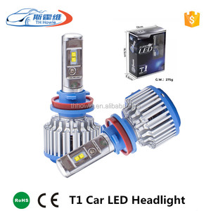 T1 Super Bright Car Headlights H7/ H8/H11 HB3/9005 HB4/9006 H1 70W 7000lm Auto Front Bulb Automobile Headlamp 6000K Car Lighting