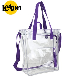 Eco-friendly promotional shopping portable large capacity tote pvc bag