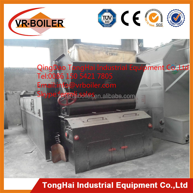 Moving chain grate stoker using coal fired boiler