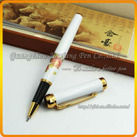 JDR-YMD Chinese colored drawing of peony logo roller pen for Collector's Edition