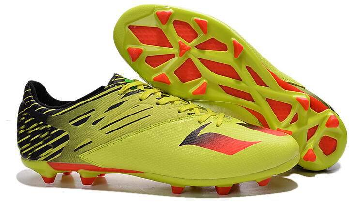 ef5c9f8b1 Get Quotations · New Originals Messi 15.3 FG AG Football shoes men Mesh  sneakers Soccer Cleats Metallic Ice