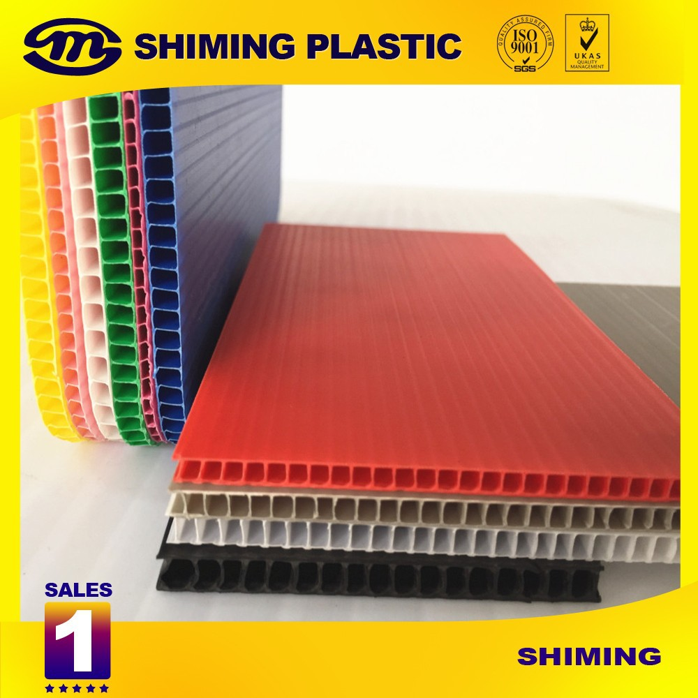 8mm White Pp Coroplast Plastic Pp Extruded Sheet Esd