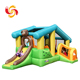 Children cartoon design inflatable bouncer with slide