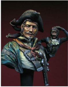 Make resin head sculpture carving polyresin pirate bust sculpture