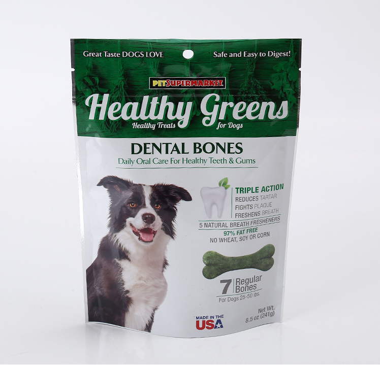 Pet Food Packaging Resealable Doypack Dog Treat Packaging Bag