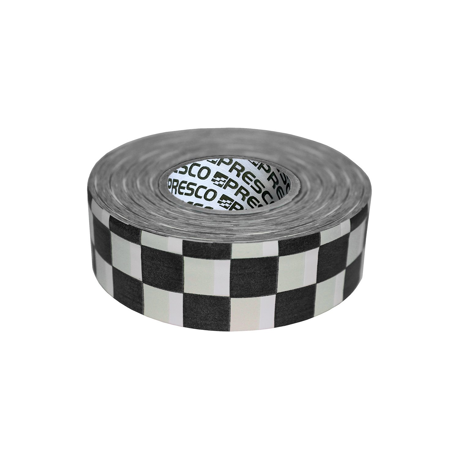 Presco Checkerboard Patterned Roll Flagging Tape: 1-3/16 in. x 300 ft. (White and Black Checkerboard)