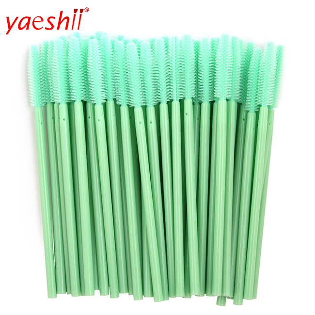 Wholesale Disposable Eyelash Brush Nylon Spiral Bendable Black Mascara Brush