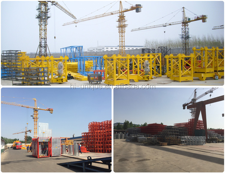 Low Price QTZ80 Self Erecting Tower Crane for Construction