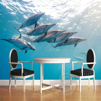 3d Murals Under Sea World Wallpaper Bedroom/living Room/tv/background Mural  Wallpaper - Buy 3d Wall Murals Wallpaper,Small Wallpaper Murals,Kids