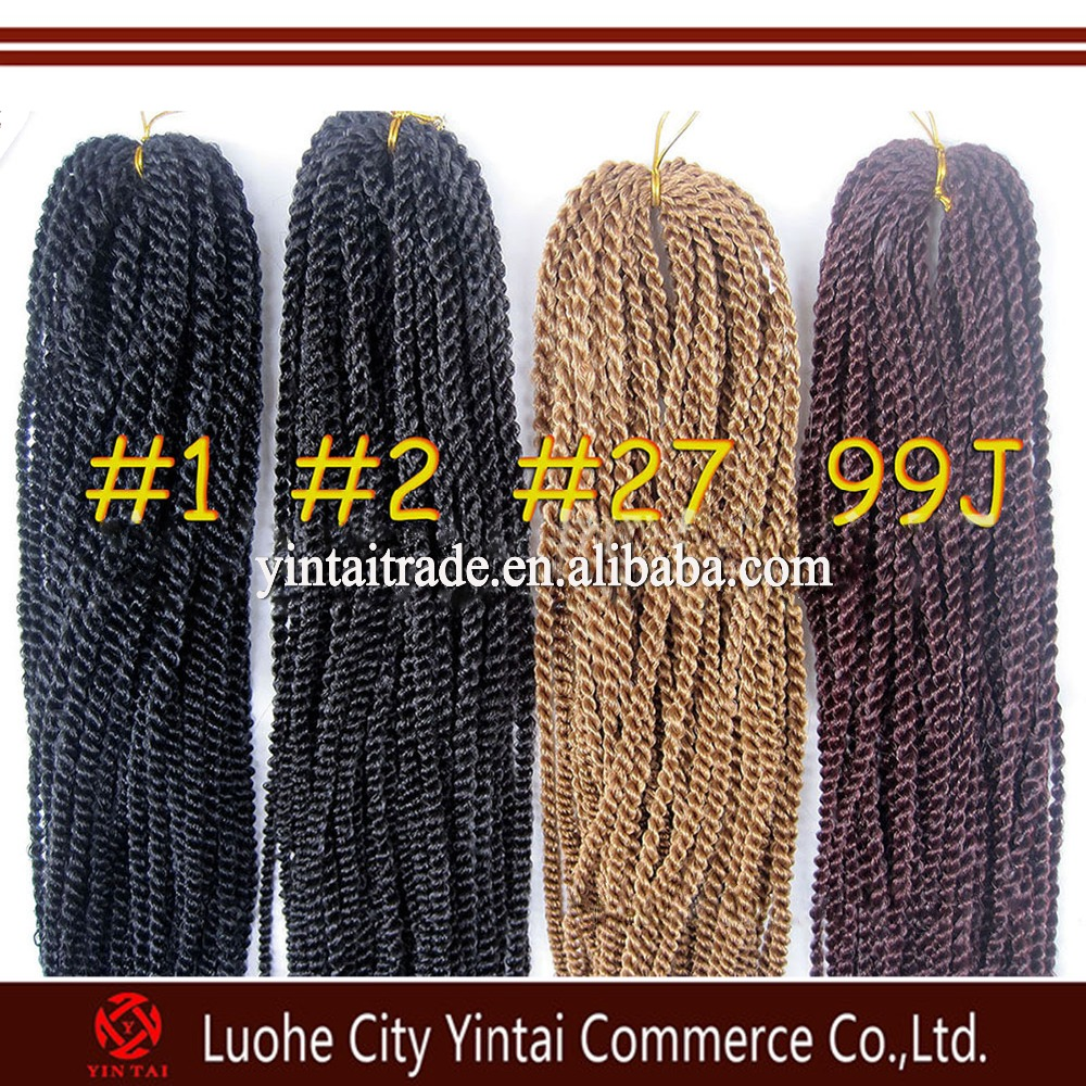 Quality Crochet Braids Hair Senegalese Twist Synthetic Afro Kinky Hair ...