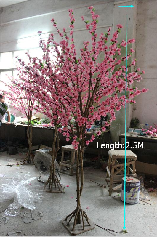 De alta calidad decorativa artificial flor de durazno de for Tipos de arboles decorativos