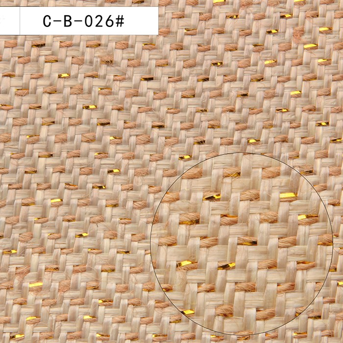 Ecofriendly and natural material paper woven straw fabric