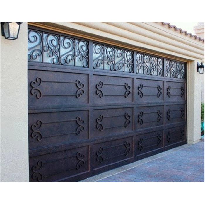 Sale Modern Cheap Automatic Garage Doors Wrought Iron Garage Door