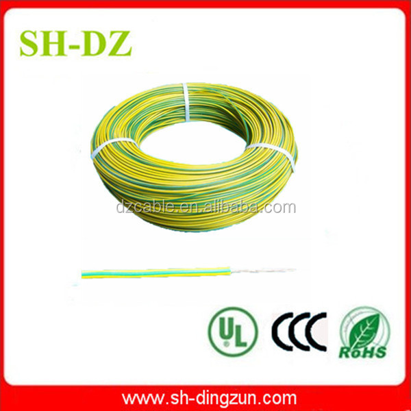 teflon and silicone insulation yellow green grounding cable