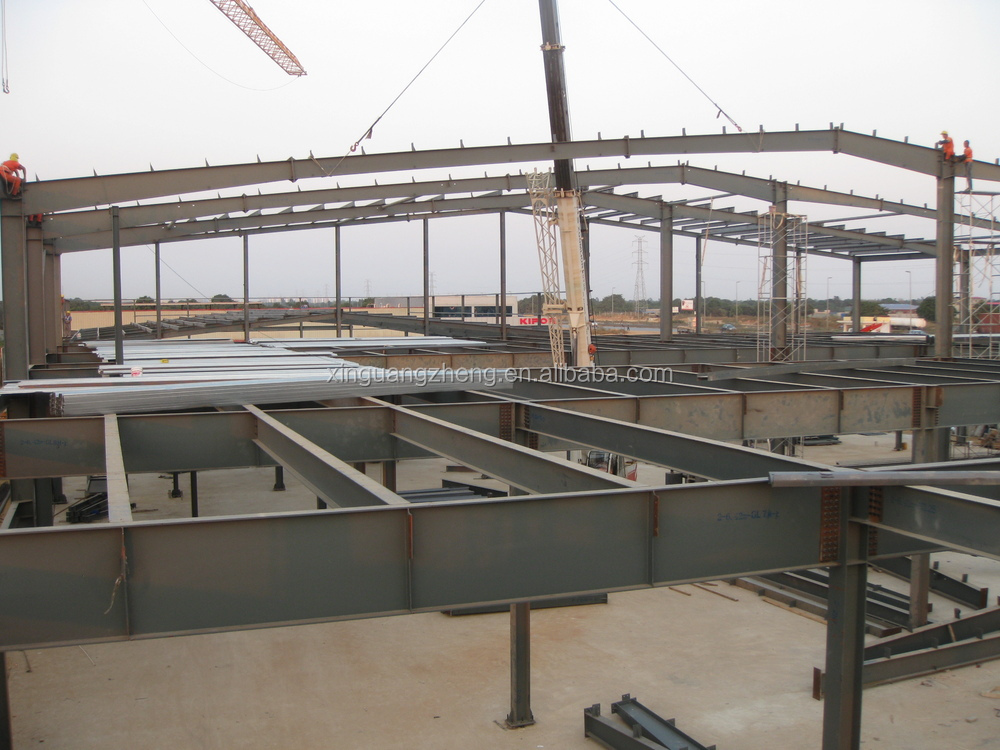 Angola super market steel structural building
