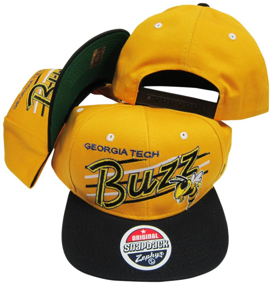 Georgia Tech Yellow Jackets Gold/Black Snap Back Hat / Cap