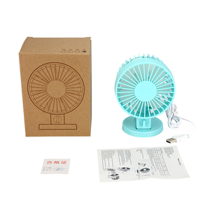 USB Portable Fan Quiet Double Leaf Cooling Desktop Fan for Office, Travel, Home, School, Dorm, Game Room