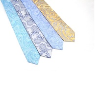 Silk Neck Tie with Beautiful Paisley Designs Factory Designer Tie