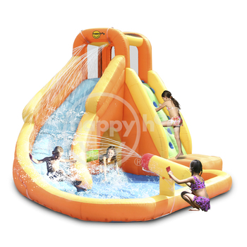 Happy hop 9317 inflatable water slide and pool with for Happy hop inflatable water slide