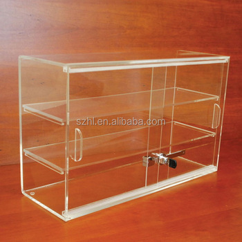 3 Tiers Acrylic Display Case With Sliding Doors And Lock Buy