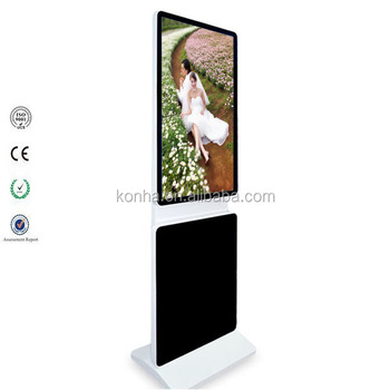 46 inch rotating floor standing r advertising screen with android system