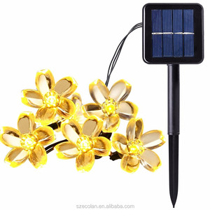 Solar Powered LED Fairy Lights 50LED Blossom Flower Waterproof Party String Lamp