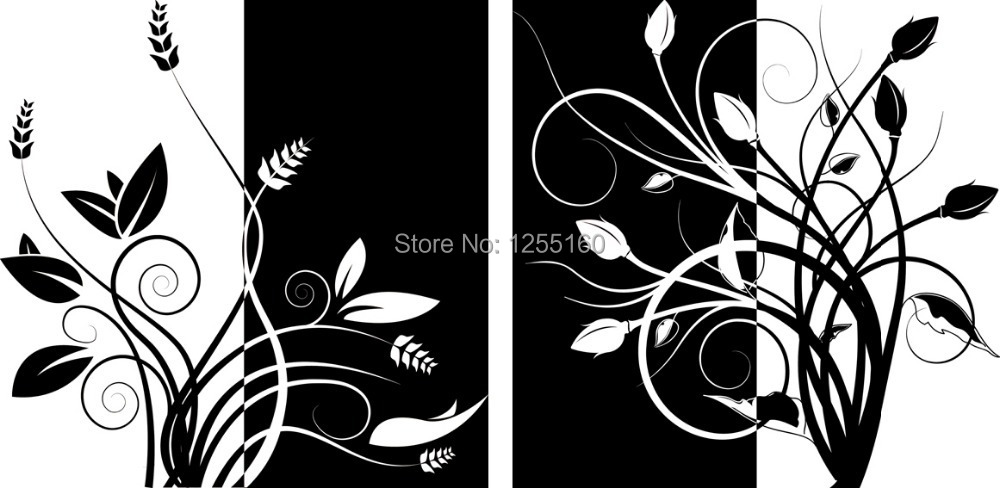 Black White Flower Paintings Gallery Decoration Ideas Choice Image