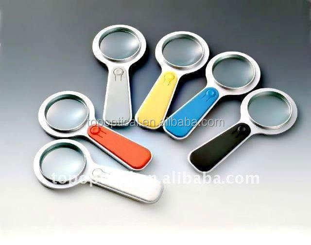 Hot sale led colorful magnifying glass with light