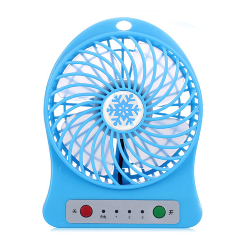 YIWU Outdoors Portable Mini Fan USB for Car Electric Battery Rechargeable Handheld Fan Color : Blue