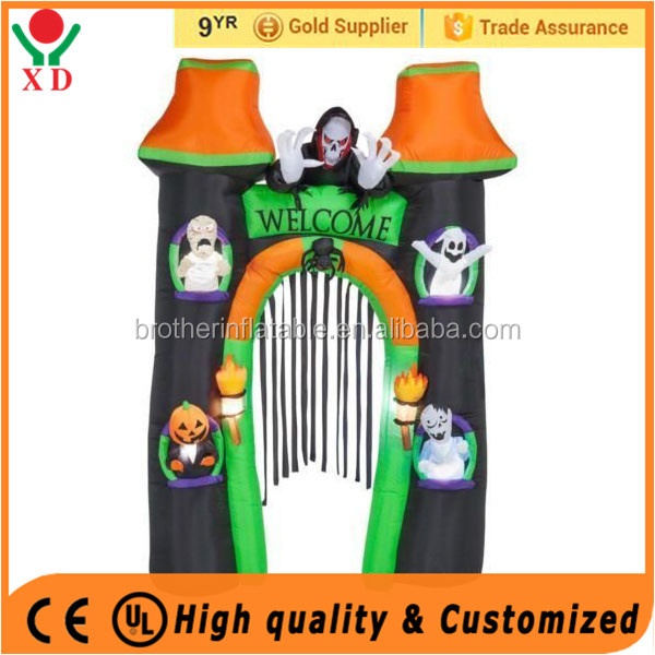 Manufacture supply wholesale giant halloween air blown / inflatable items for halloween / inflatable halloween archway