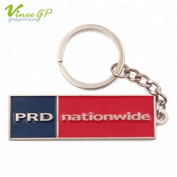 Promotional gifts Nickel Plating 19.2g metal key chain souvenir ring keychain